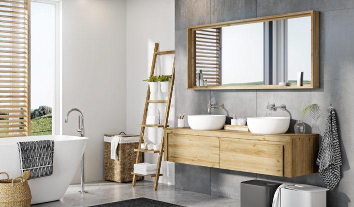 houten badkamermeubel op maat