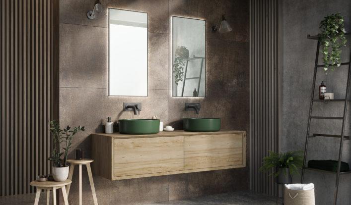 Eiken badkamermeubel op maat - Fine Wood Design