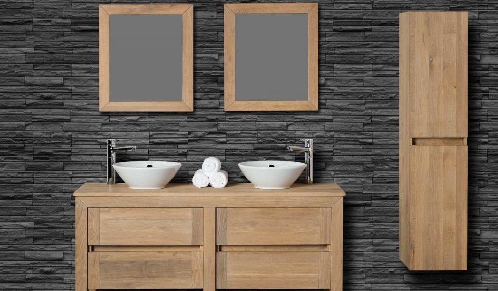 Eiken Wastafelmeubel - Fine Wood Design