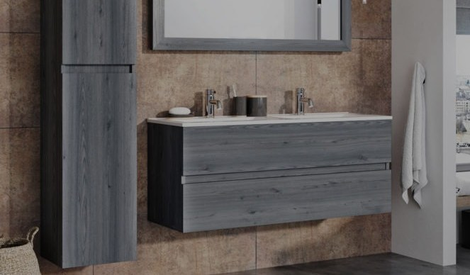 Massief eiken badkamermeubel - Fine Wood Design